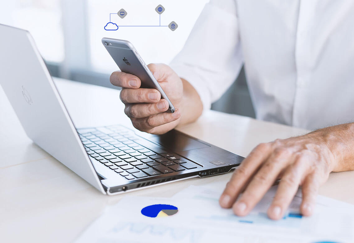 Case-Studies, Hände, Cloud, Iphone, Notebook