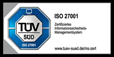 ISO 27001 Zertifiziertes Informationssicherheits-Managementsystem Prüfzeichen