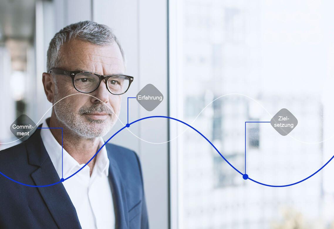IT-Providerwechsel, Herausforderung, Brille, Mann, Erfahrung